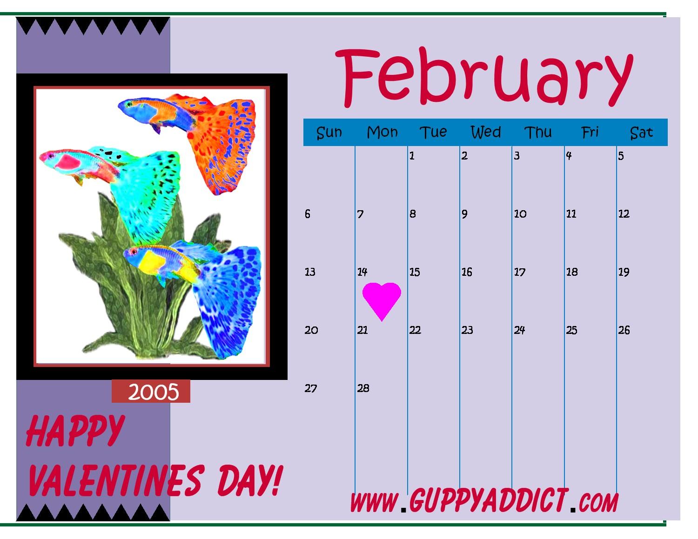 fancy guppy calendar